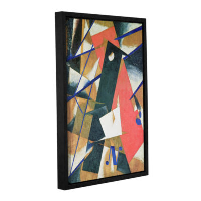 Brushstone Spatial Force Construction; 1912 Gallery Wrapped Floater-Framed Canvas Wall Art