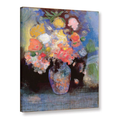Brushstone Flowers; 1900 Gallery Wrapped Canvas Wall Art
