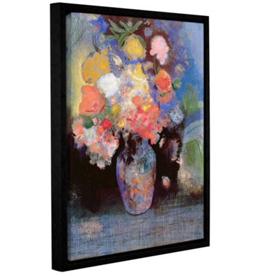 Brushstone Flowers 1900 Gallery Wrapped Floater-Framed Canvas Wall Art