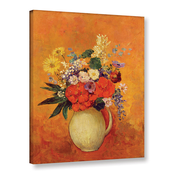 Brushstone Flowers; 1910 Gallery Wrapped Canvas Wall Art