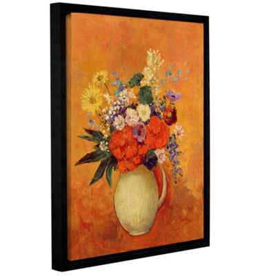 Brushstone Flowers 1910 Gallery Wrapped Floater-Framed Canvas Wall Art