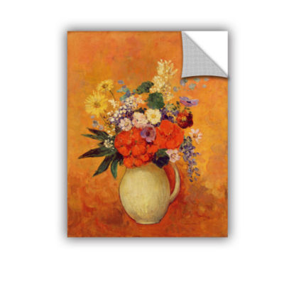 Brushstone Flowers; 1910 Removable Wall Decal