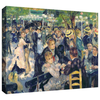 Brushstone Ball at The Moulin de la Galette Gallery Wrapped Canvas Wall Art
