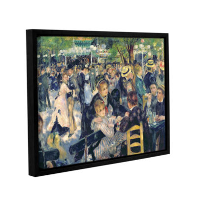 Brushstone Ball at The Moulin de la Galette Gallery Wrapped Floater-Framed Canvas Wall Art