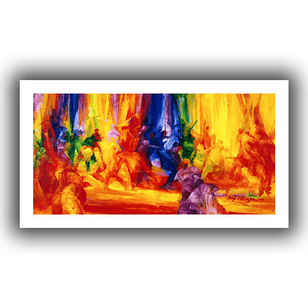 Brushstone Dance I Canvas Wall Art
