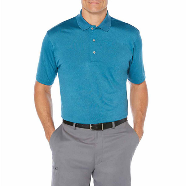 Pga tour short sleeve heathered polo shirt jcpenney for Jcpenney ladies polo shirts