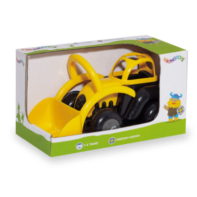 International Playthings - Viking Toys 8 Inch Black and Yellow Tractor