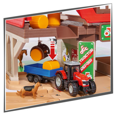 Majorette - Creatix Farm 60 Piece Playset with 1 Tractor and Trailer