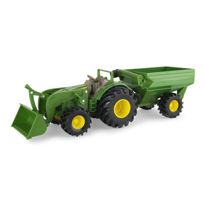TOMY - John Deere Monster Treads Tractor with Wagon