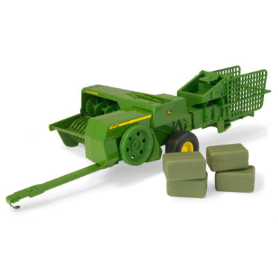 TOMY - 1/16 John Deere 348 Square Baler and 4 Bales