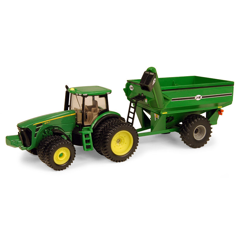 TOMY - 1/64 John Deere 8320R Tractor with J and M Grain Cart -  Asstd National Brand, 65623120018