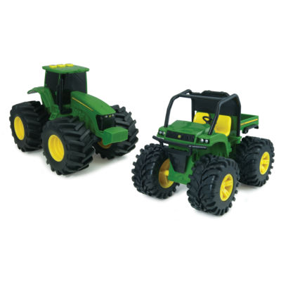 John Deere - Monster Treads 6 Inch Lights and Sounds Gator and Tractor Combo