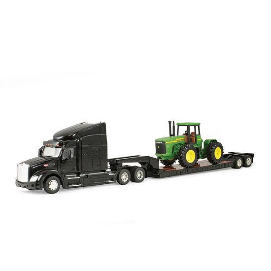 Tomy John Deere Big Farm 132 Peterbilt Model 579 Semi With John Deere 4 Wheel Drive Tractor