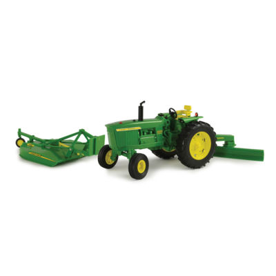 TOMY - 1:16 Scale Big Farm John Deere 4020 with Rear Blade and Mower