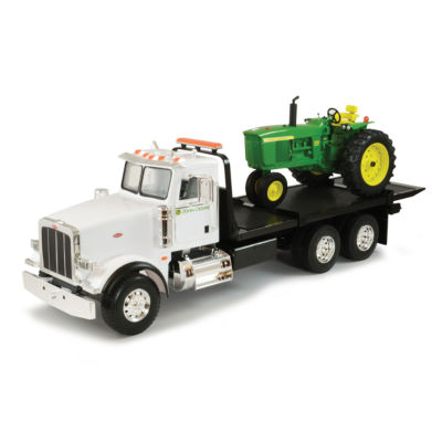 TOMY - ERTL Big Farm 1:16 Peterbilt Model 367 Dealership Delivery Truck with Roll Off and 4020 Tractor