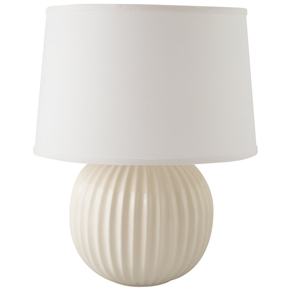 RiverCeramic Fluted Round Table Lamp