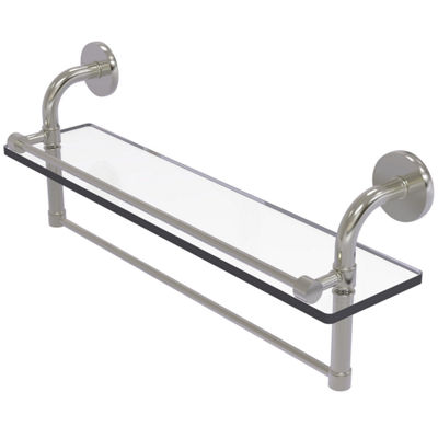 Allied Brass Remi Collection 22 IN Gallery Glass Shelf With Towel Bar
