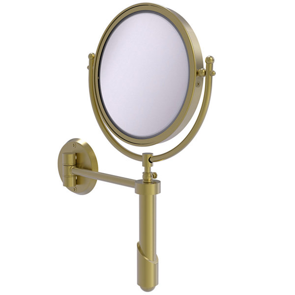 Allied Brass Soho Collection Wall Mounted Make-UpMirror 8 Inch Diameter With 4X Magnification