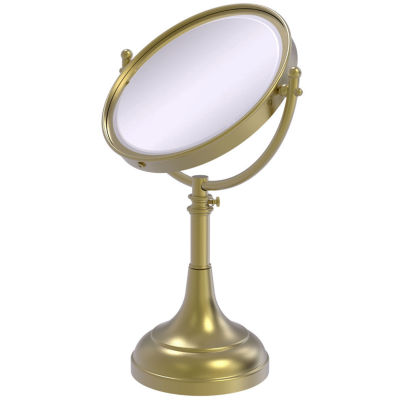 Allied Brass Height Adjustable 8 Inch Vanity Top Make-Up Mirror 4X Magnification