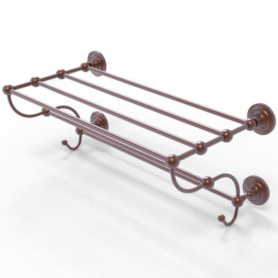 Allied Brass Prestige Que New Collection 36 IN Train Rack Towel Shelf