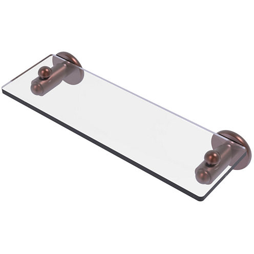 Allied Brass Soho Collection 16 IN Glass Vanity Shelf With Beveled Edges