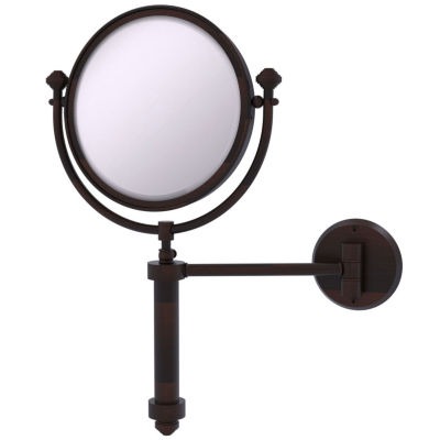 Allied Brass Southbeach Collection Wall Mounted Make-Up Mirror 8 Inch Diameter With 2X Magnification