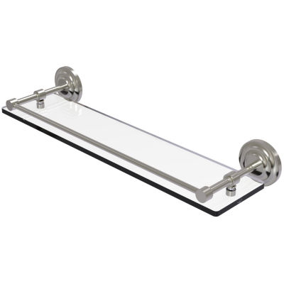 Allied Brass Que New 22 IN Tempered Glass Shelf With Gallery Rail