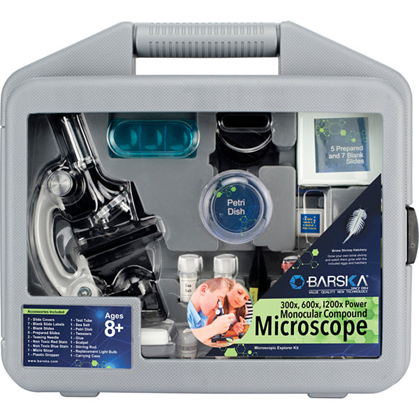 Microscope Kit With Carrying Case