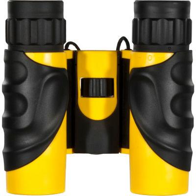 Barska 12X25 Colorado Waterproof Bk-7 Roof Prism Binoculars - Yellow Rubber Blue Lens
