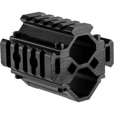 Barska Double Shotgun Barrel Mount; Tri-Rail; 5 Sections; Black Aw12012