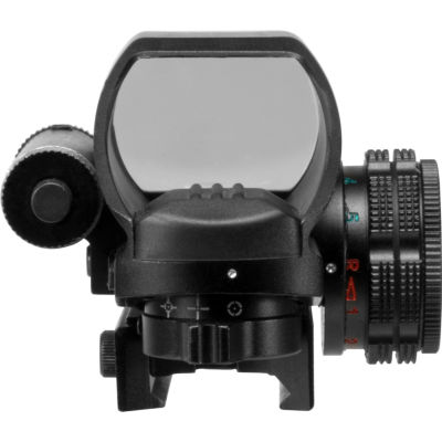 Barska Multi Reticle Electro Sight With Red Laser;Black Ac12136