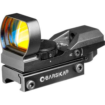 Barska Electro Sight Multi Reticle Red Dot Sight;Black W/7-Position Rheostat Ac10632
