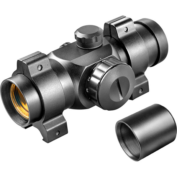 Barska 25Mm Red Dot Sight Ac10326 W/ Rings & Extension Tube; Box Pack