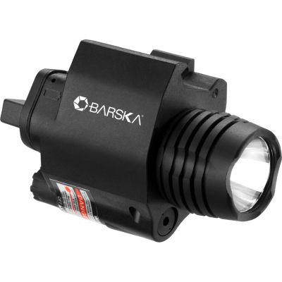 Barska Red Laser / Weapon Light Combo; 200 Lumens;2Nd Gen Mount; Black Au12714