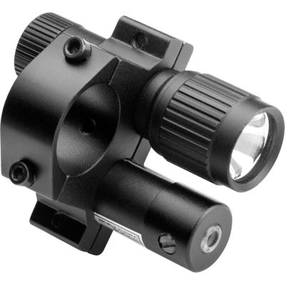 Barska Tactical Red Laser 19Mm Sight W/ Flashlight& Mount; Black Au11005