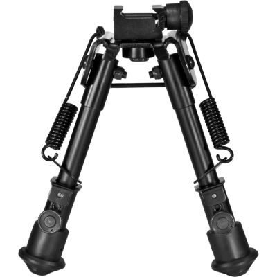 Barska Spring Loaded Adjustable Bipod; Standard; Black Aw11896