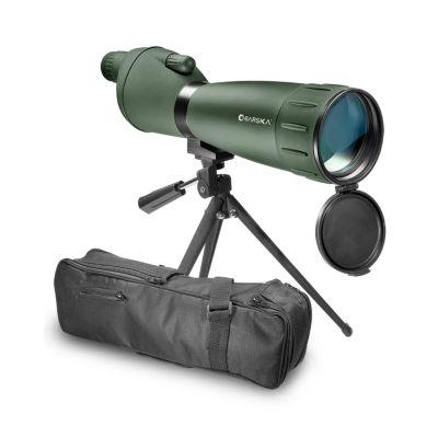 Barska 25-75X75 Straight-Body Porro Bk7 Spotting Scope; Green W/ Tripod Co10998