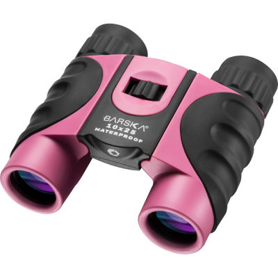 Barska 10x25mm Pink Waterproof Compact Binoculars