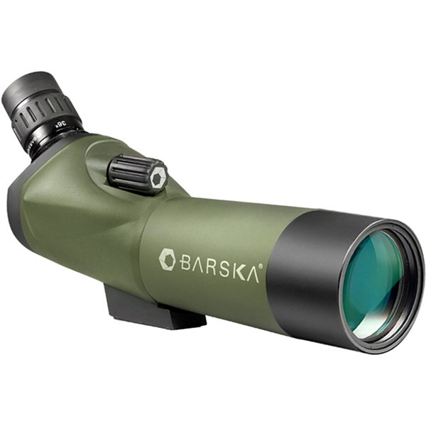 Barska Blackhawk 18-36X50 Waterproof Angled Spotting Scope; Green W/ Tripod & Case Ad10348