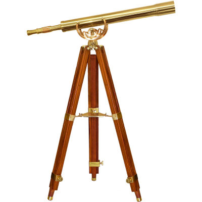 Barska 32X80 Anchormaster Spy Scope W/ Mahogany Floor Tripod Aa10620