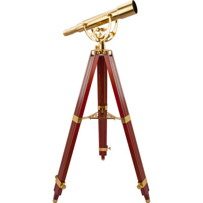 Barska 15-45X50 Anchormaster Handcrafted Brass Spyscope W/ Mahogany Tripod Aa10616