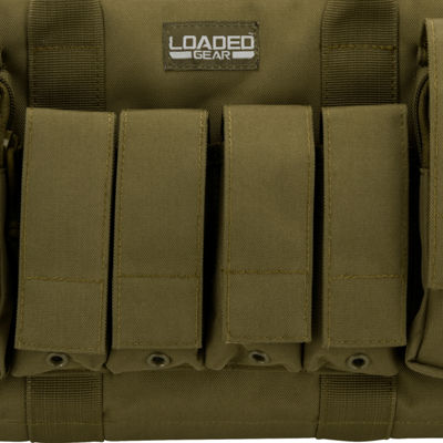 "Loaded Gear RX-50 16"" Dual Pistol Case w/ 4 Mag Pouches OD Green"