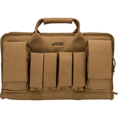"Loaded Gear RX-50 16"" Dual Pistol Case w/ 4 Mag Pouches Dark Earth"