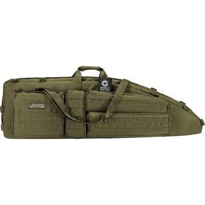Barska Rx-600  46 In Tactical Dual Rifle Bag, Padded Center Divider, 4 Zippered Pockets, Od Green Bi12554