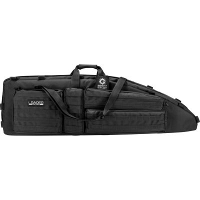 Barska Rx-600  46 In Tactical Dual Rifle Bag, Padded Center Divider, 4 Zippered Pockets, Black Bi12550