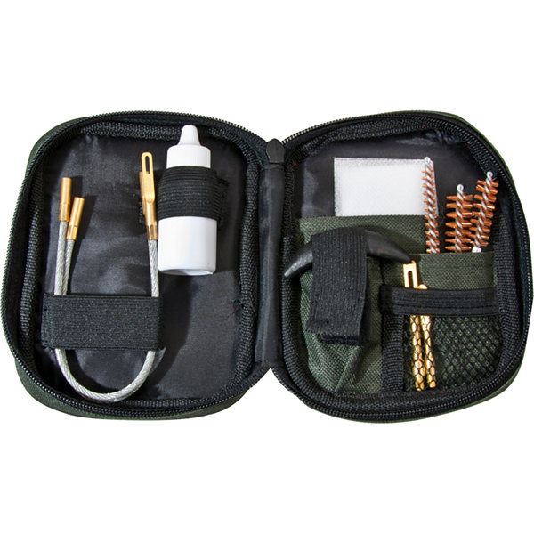Barska Pistol Cleaning Kit w/ Flexible Rod and Pouch