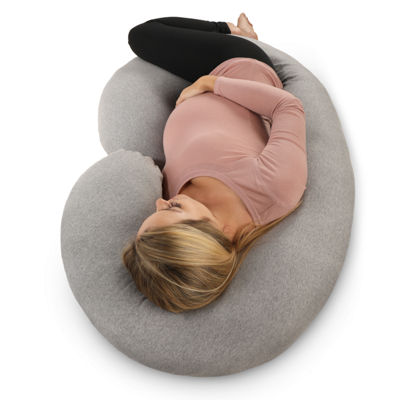 PharMeDoc C-Shape Pregnancy Pillow with Jersey Cover