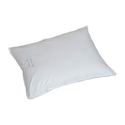 Breakfast in Bed™ Down Alternative Back Sleeper Pillow with I WOKE UP LIKE THIS