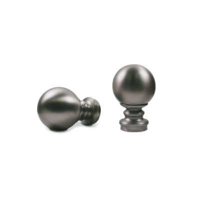 Kirsch Designer Metals - Pandora (Ball) 2-pack Curtain Rod Finials