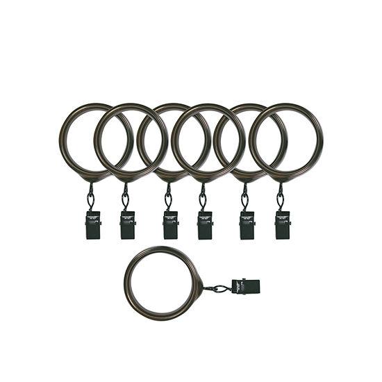 Kirsch Designer Metals - Trans Dec 7-pc. Curtain Rings